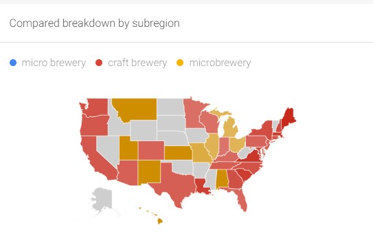 """Fan with Google Trends: """"Craft Brewery"""" displaced """"Microbrewery"""" only a couple yearsago"""
